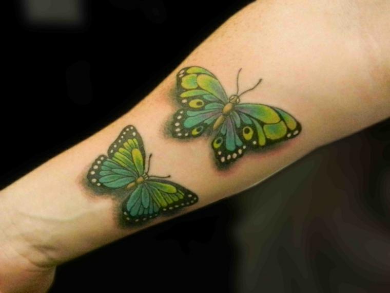 tatuajes con mariposas colores
