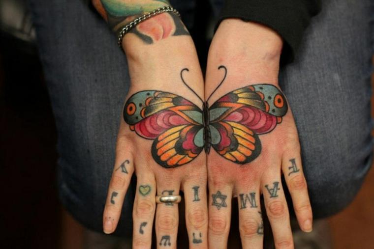 Tatuajes Con Mariposas De Colores Para Las Mujeres - Tatuajes-de-colores-para-mujeres