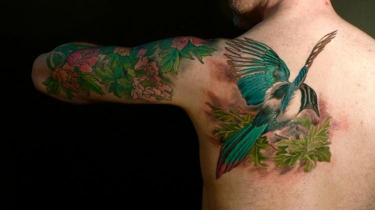 tatuajes de flores-mano-opciones-mano-espalda