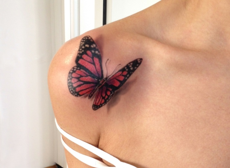 tatuajes de mariposas-3D-ideas-originales