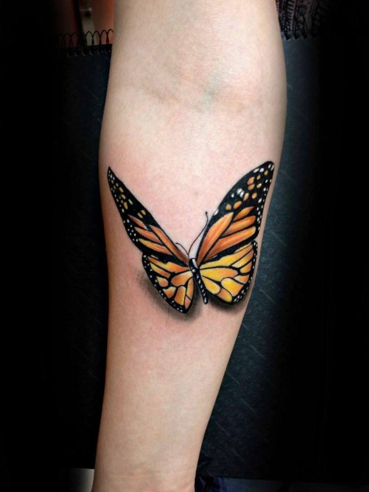 tatuajes de mariposas-3D-mano