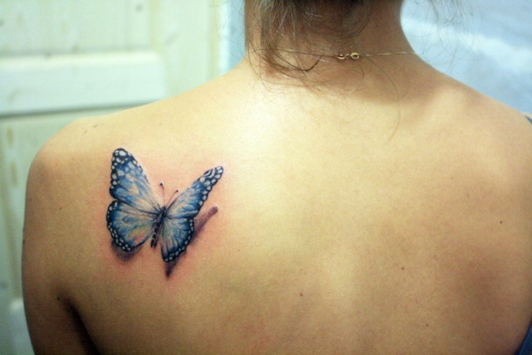 tatuajes de mariposas-azul-opciones