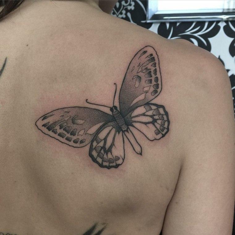 tatuajes de mariposas-espalda-diseno