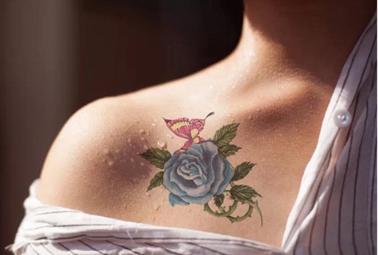 tatuajes de rosas estilo-diseno-moderno