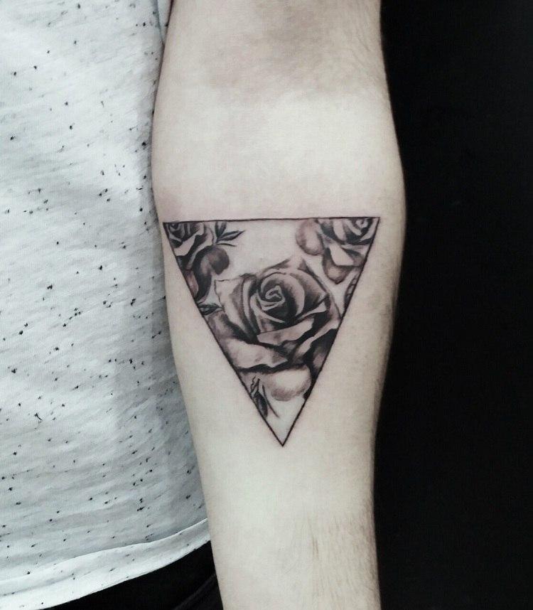 Que Significa Tatuaje De Triangulo Con Rosas Sfb