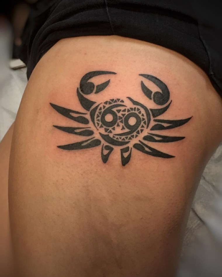 tatuajes-de-signos-cancer-estilo-tribal