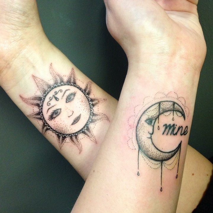 tatuajes ideas sol luna mujeres