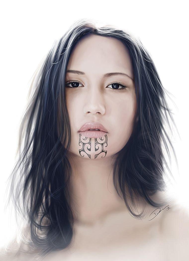 tatuajes maoríes significado ideas-mujeres-tatuadas