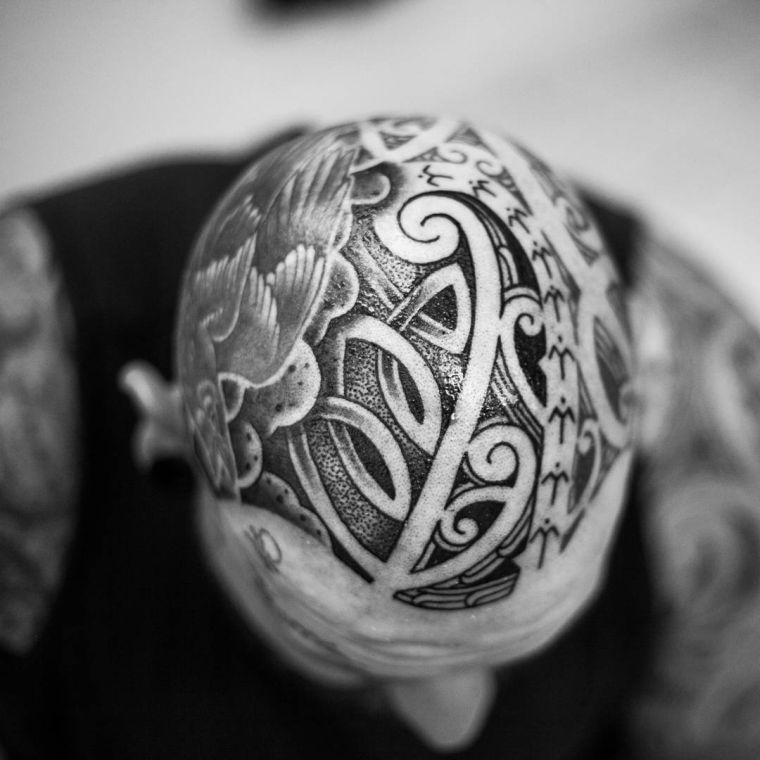 tatuajes maoríes significado motivos-cabeza-hombre