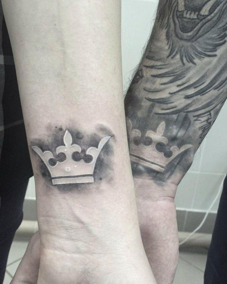 tatuajes para parejas-coronas-bellas