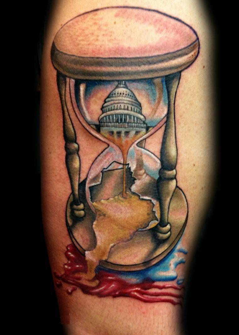 tatuajes reloj de arena