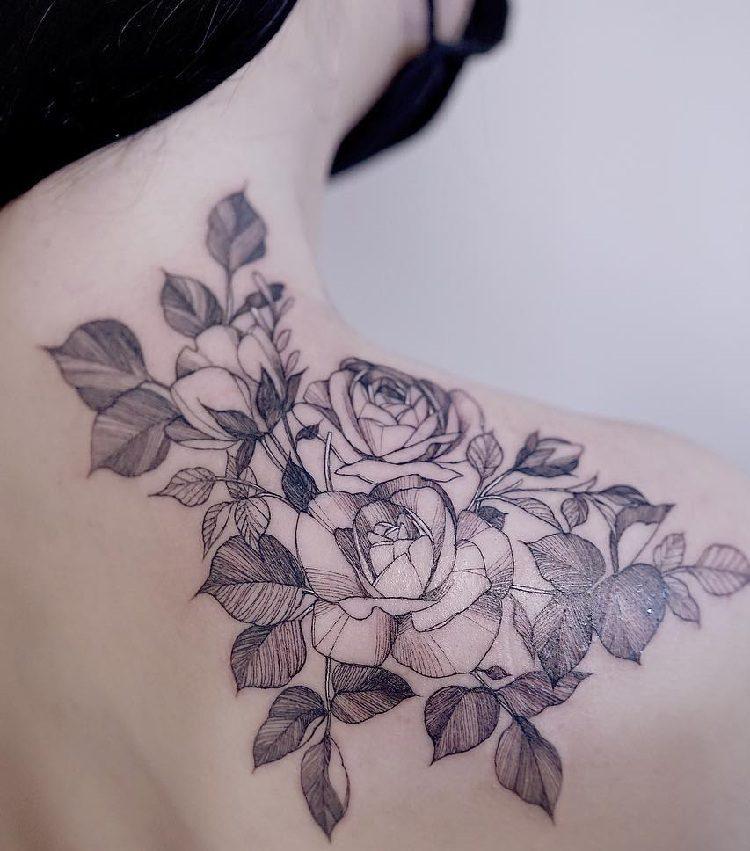 Tatuajes De Rosas Ideas Disenos Y Significado - Diseos-de-rosas