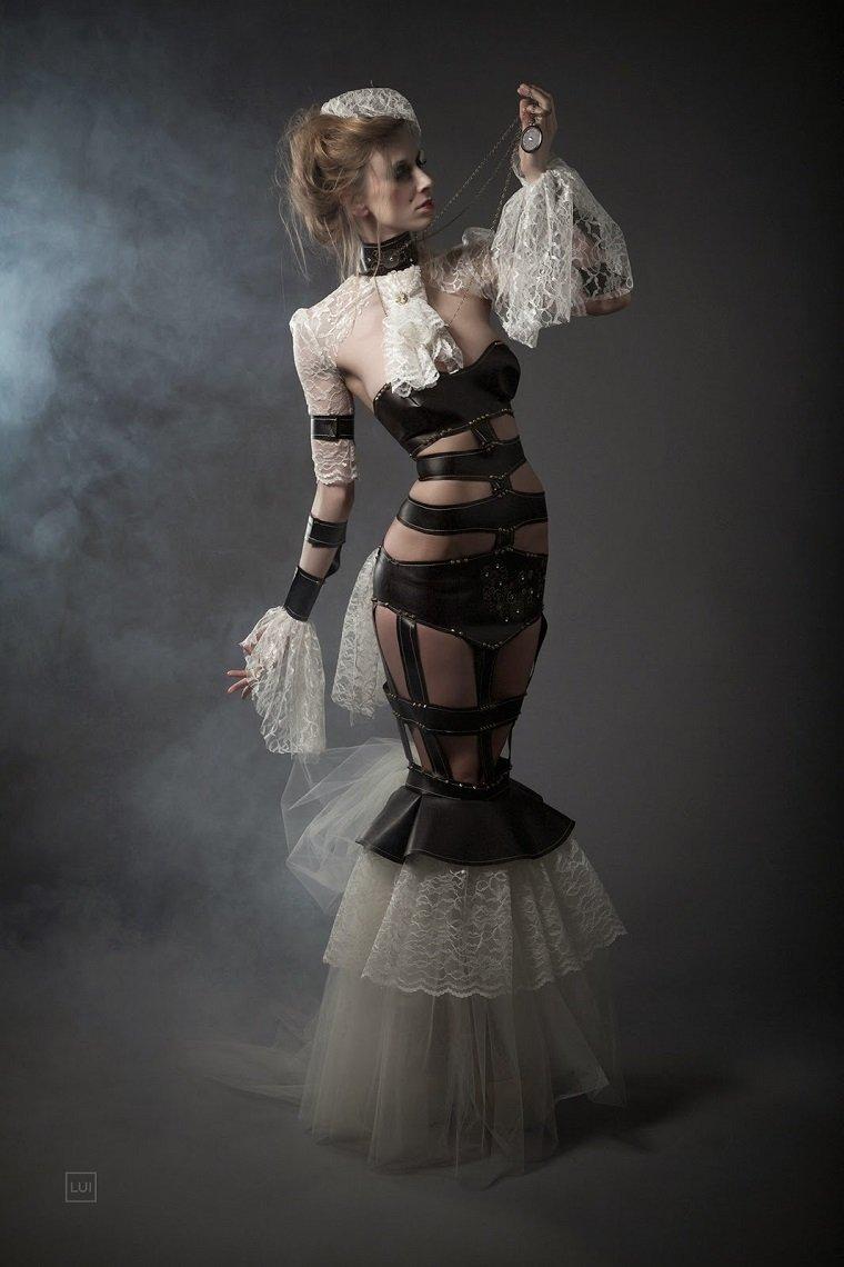 traje vestido steampunk
