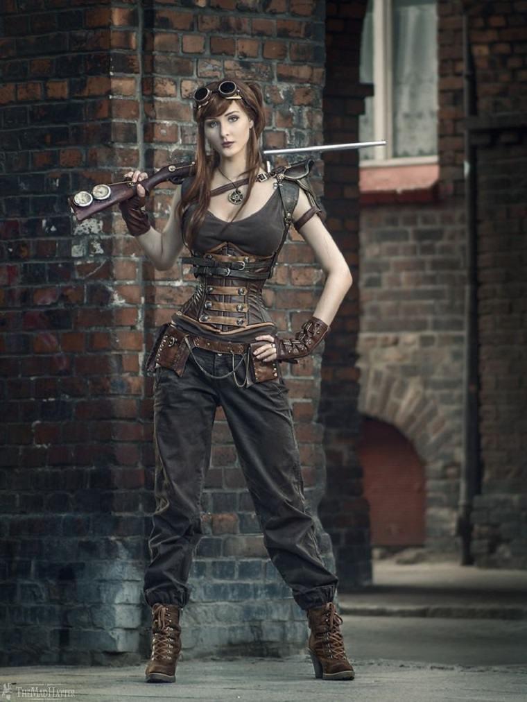 mujer steampunk