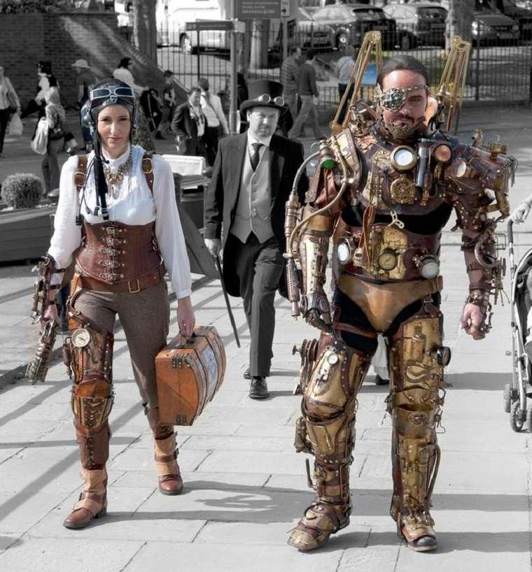 Steampunk moda robot