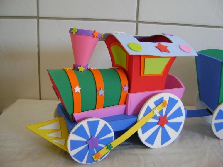tren colorido especial ruedas