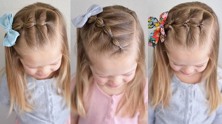 tres peinados modernos ninas faciles - Peinados De Ninas
