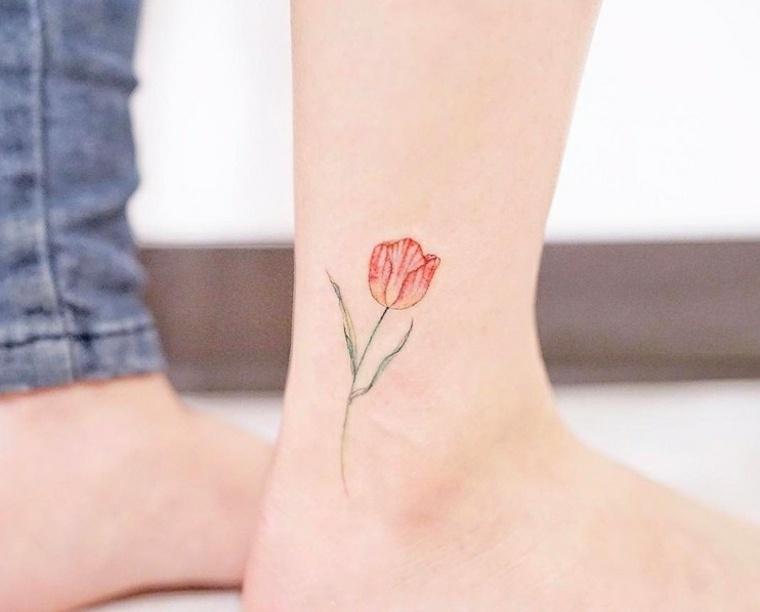 tatuaje de flor amapola