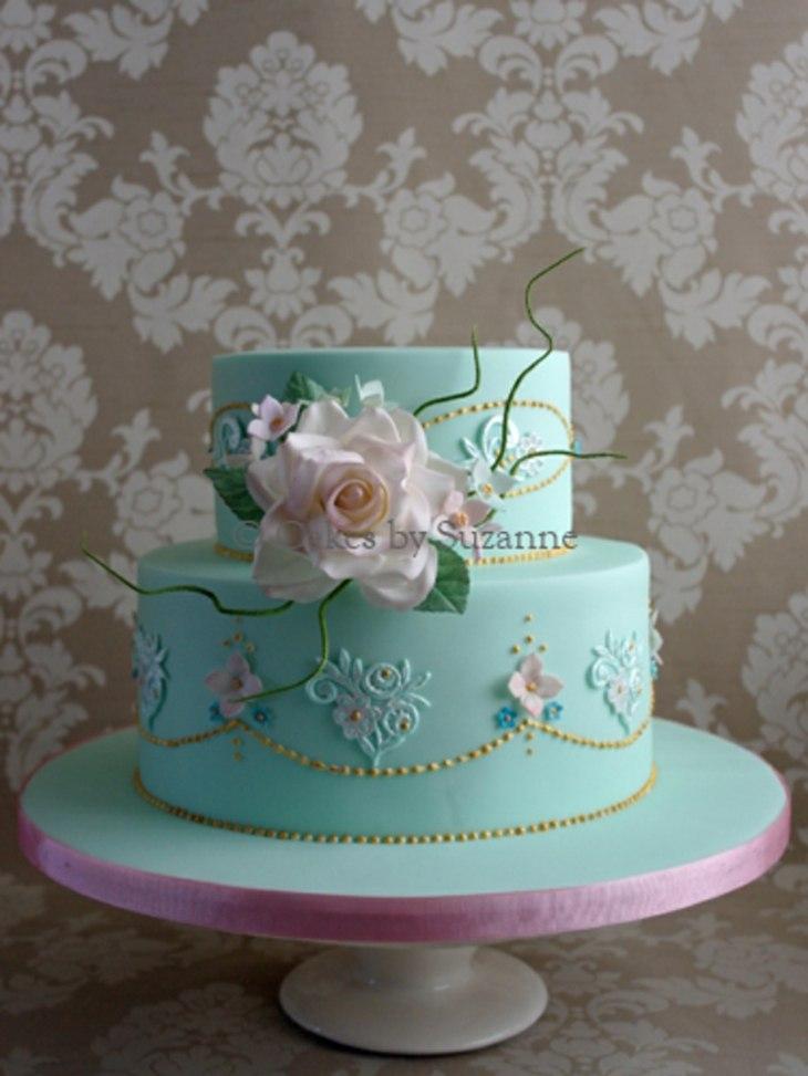 vintage diseño torta especial