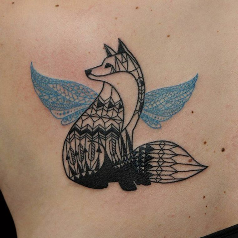 Tatuajes de animales geométricos y de estilo minimalista