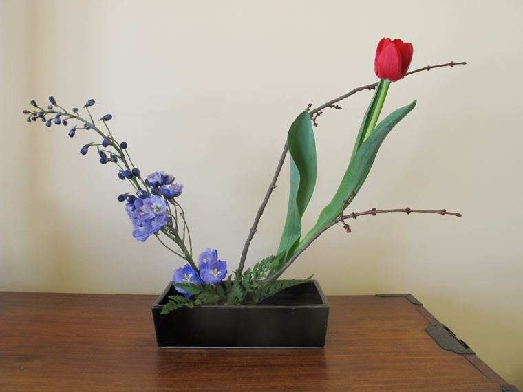 preciosos arreglos florales japoneses