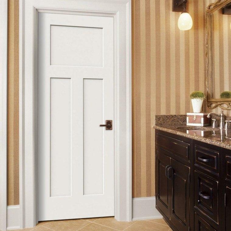 Puertas blancas para interiores modernos usos en for Puertas para dormitorios