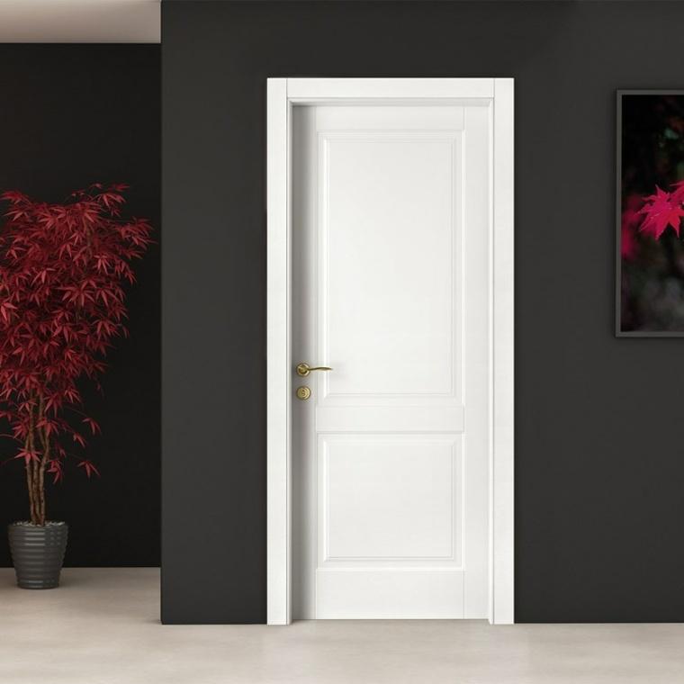 Puertas blancas para interiores modernos usos en for Puertas blancas modernas