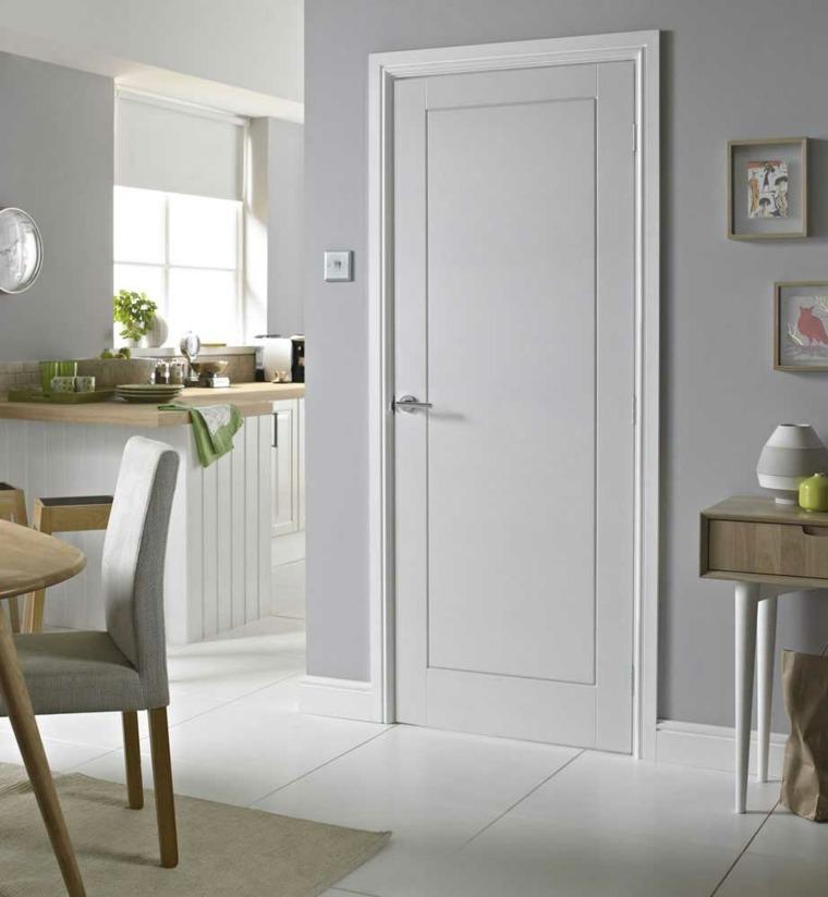 Puertas blancas para interiores modernos usos en interiores - Puertas de casa blancas ...