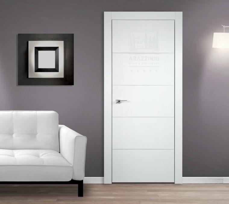 Puertas blancas para interiores modernos usos en for Recamaras blancas modernas