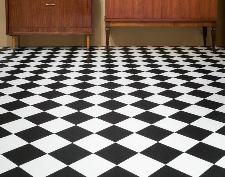 alfombras de vinilo de ajedrez