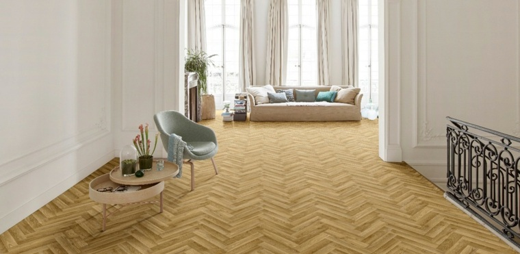 alfombras de vinilo con acabado de parquet
