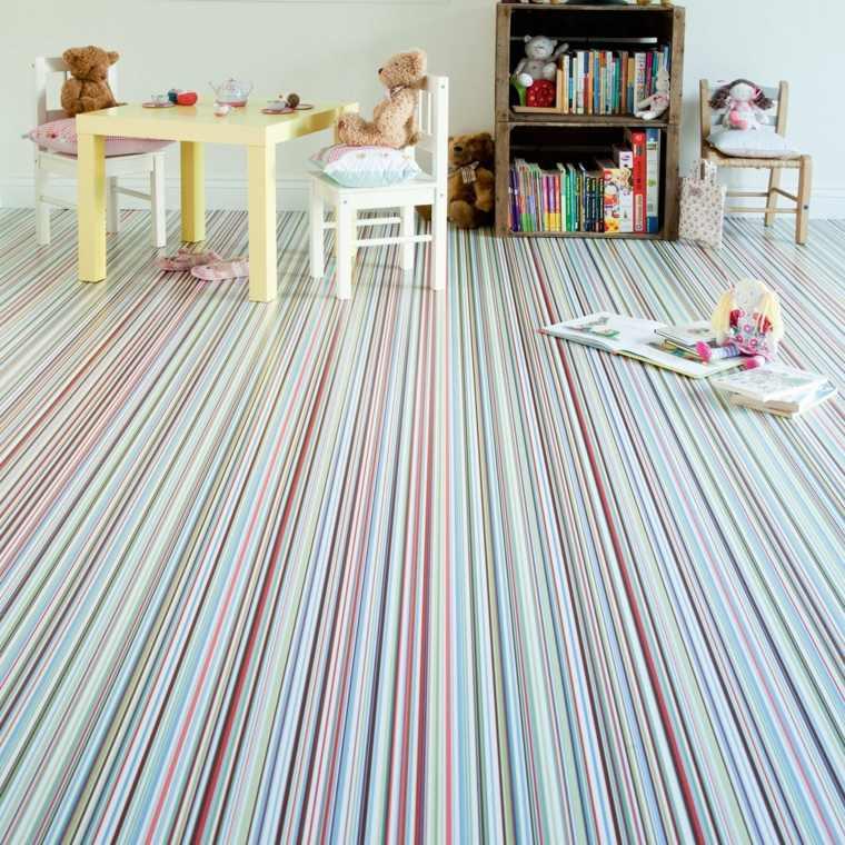 alfombras de vinilo a rayas