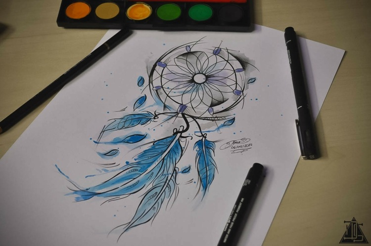 atrapasueños tatuado moderno especial