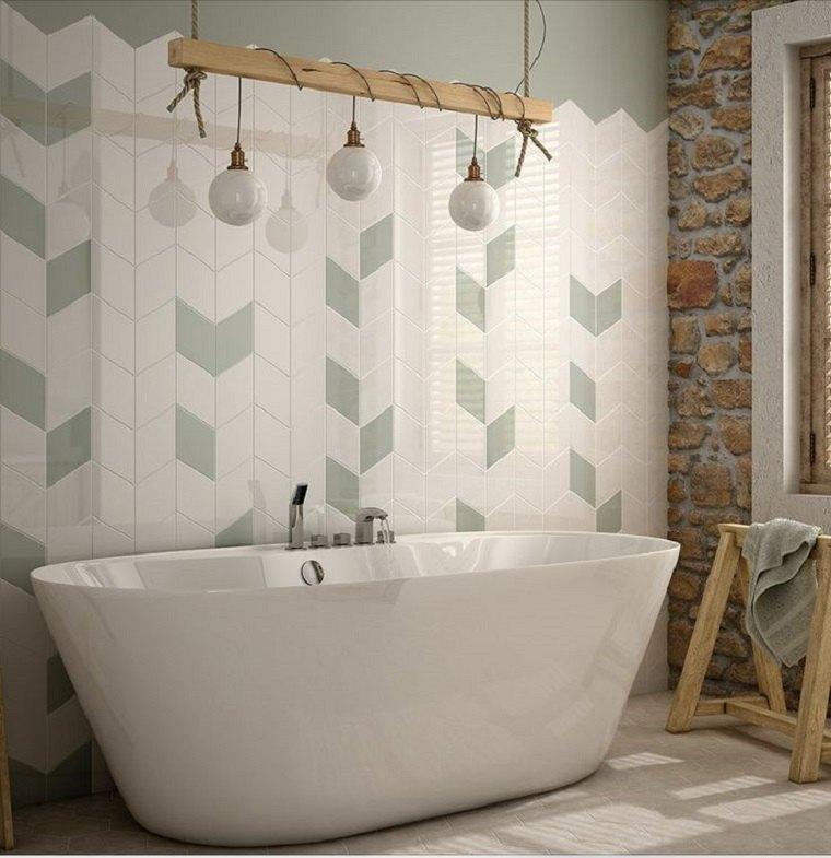 Azulejos de ba o que marcan tendencia y crean ambientes for Azulejos relieve bano