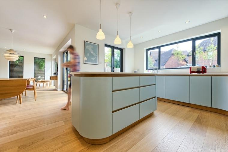 diseño de plano de cocina abierta