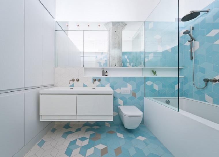 azulejos modernos de formas geométricas
