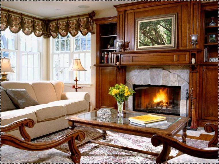 dieños de interiores inspiradores con chimenea