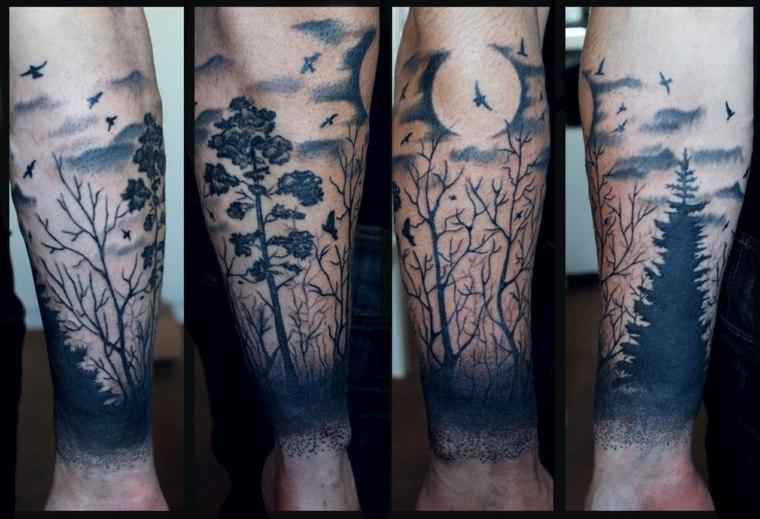 bosque-luna-pajaros-tatuaje