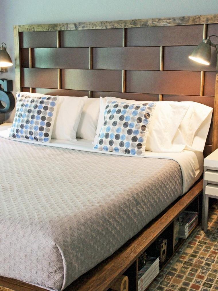 cabeceros de cama tejidos piezas