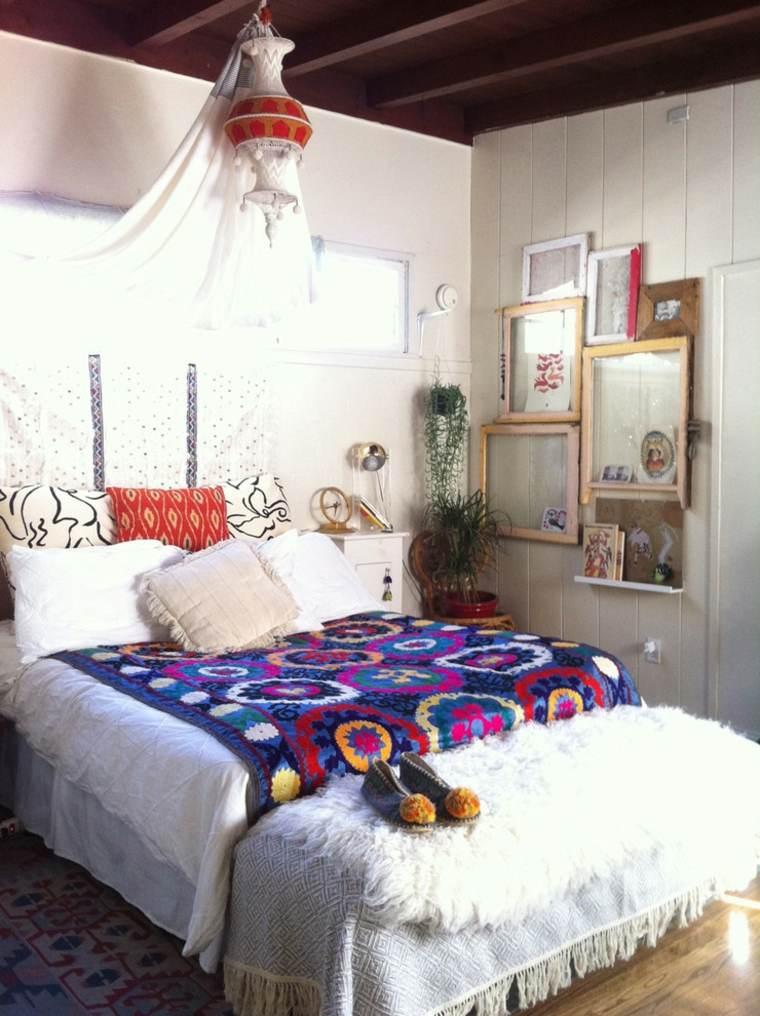dormitorios boho chic