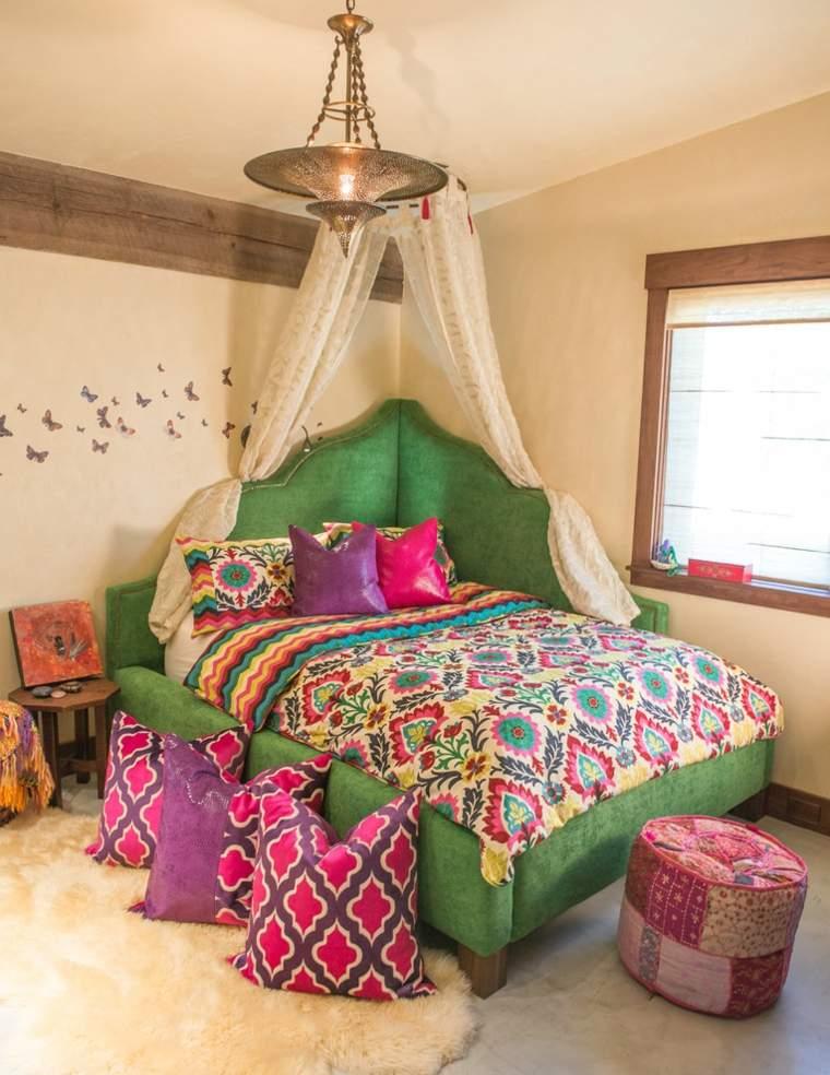 estupendos dormitorios boho chic