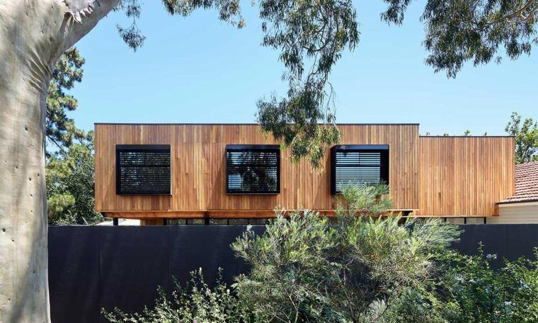 casa de madera simples lineas