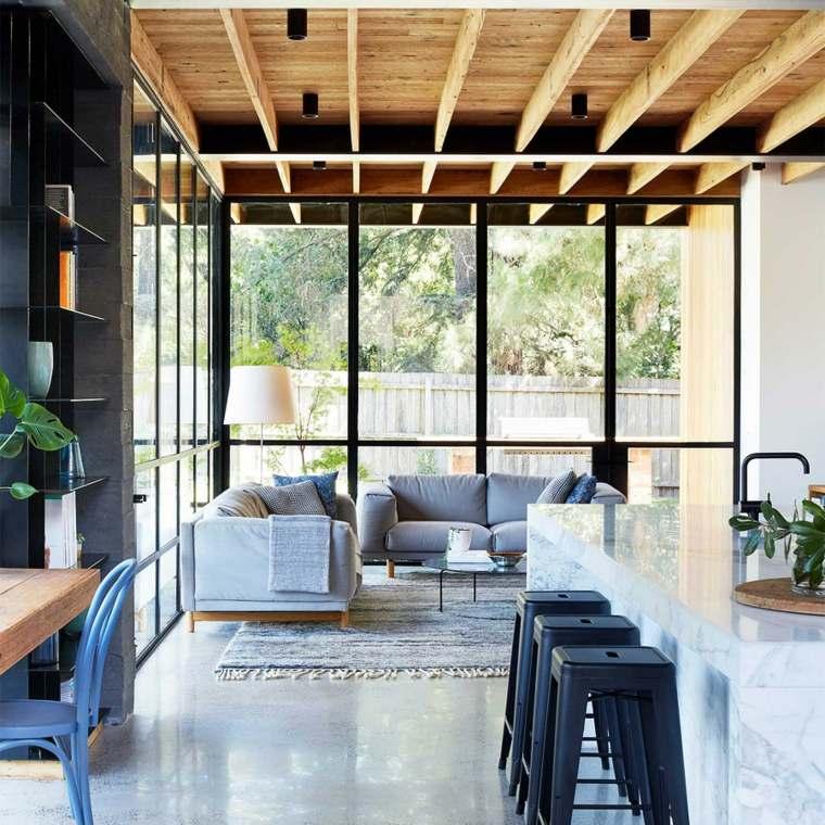 casas modernas salones abiertos