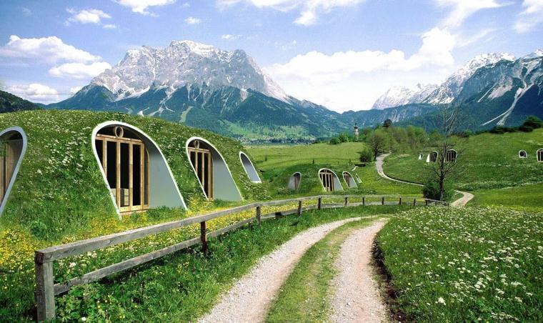 casas modulares prefabricadas estilo hobbit