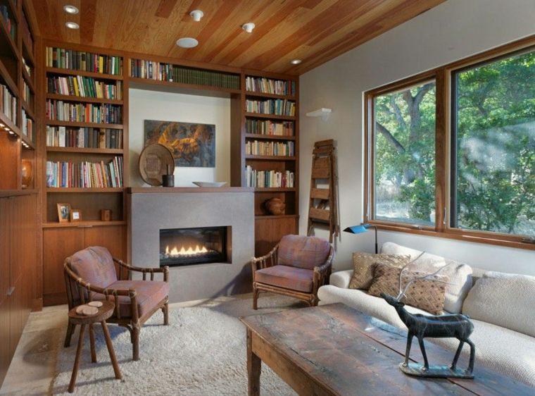 dieños de interiores inspiradores con chimeneas