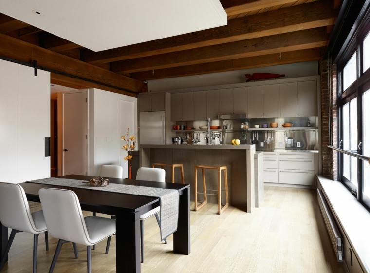 Fotos de cocinas de plano abierto y consejos sobre el dise o for Diseno cocina comedor