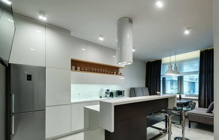 cocinas con isla-diseno-contemporaneo-apartamento-abierto