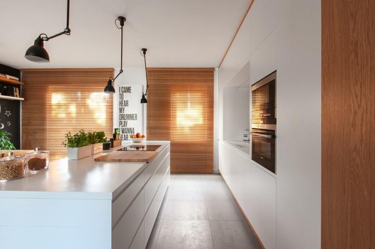 cocina-con-isla-diseno-minimalista-blanco-madera