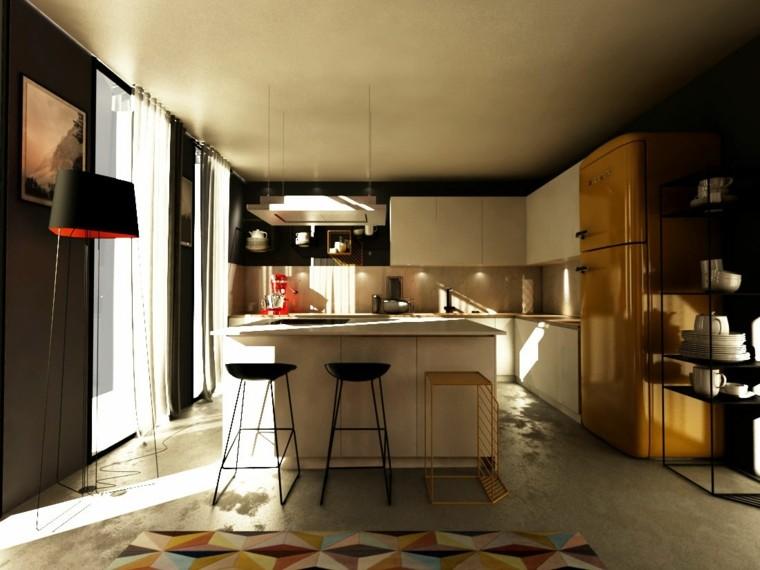 cocina-con-isla-diseno-moderno-muebles-bellos
