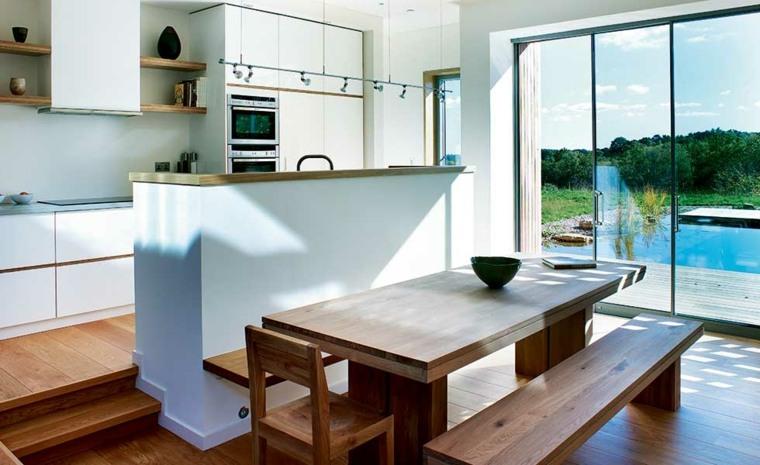 diseño de cocina moderna abierta